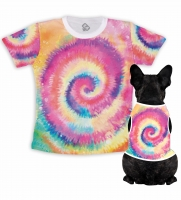 Kit Camiseta Dono   Body Pet Tie Dye