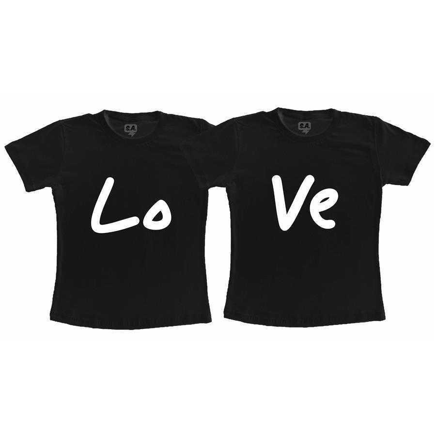 Kit Camisetas Casal Namorados LoVe
