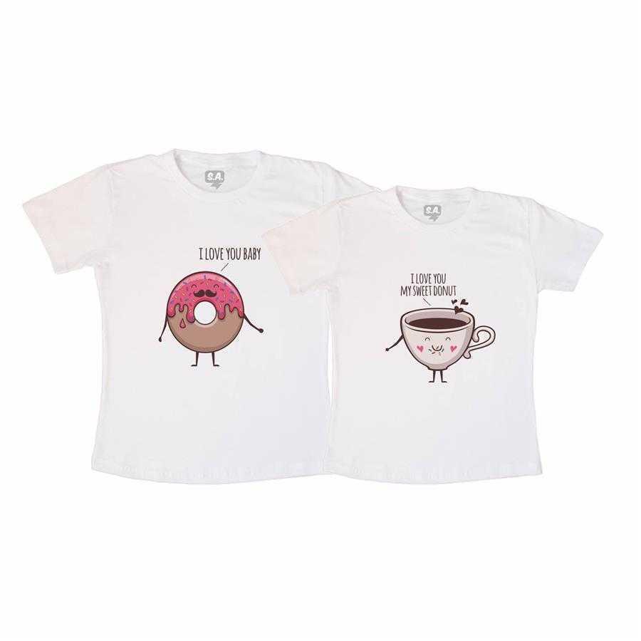 Kit Camisetas Casal Namorados Sweet Donut