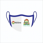 Kit Com 6 Máscaras de Proteção Facial Reutilizável e Lavável Personalizada Com Logo Escolar