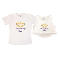 Kit Cropped E Camiseta Cha De Fraldas Na Camiseteria S A