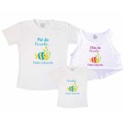 Kit Cropped e Camiseta  Peixinho