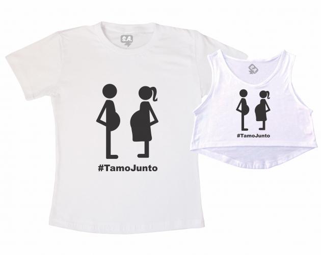 Kit Cropped e Camiseta - Tamo Junto