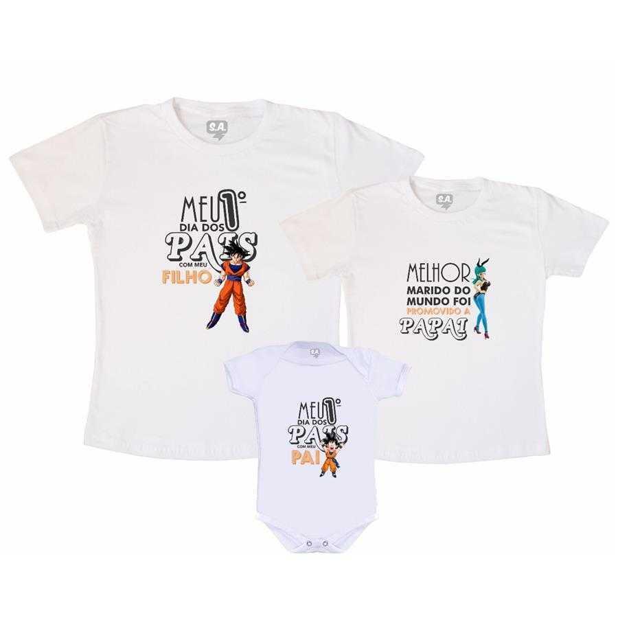 Kit Família Goku na Camiseteria S.A. 887b1b75375