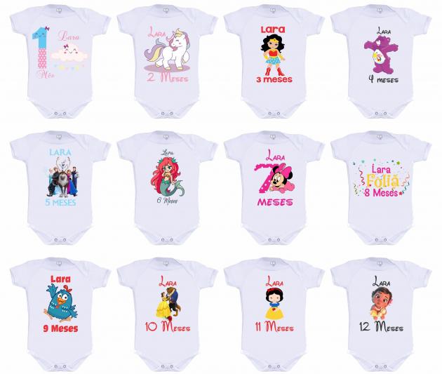 Kit Mesversário Personalizado com nome personagens