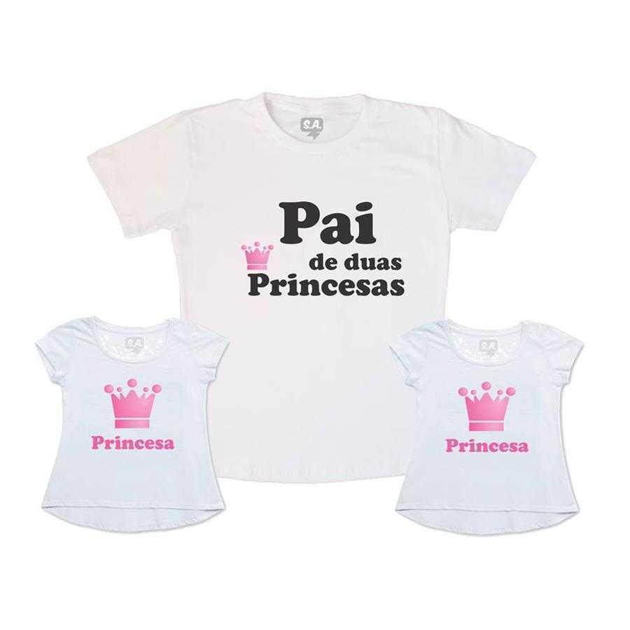 Kit Pai e Duas Filhas Pai de Duas Princesas