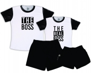 Kit Pijamas Casal  De Verão Tema The Boss