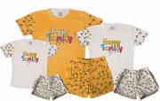 Kit Pijamas Família  Happy Family Menina