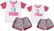 Kit Pijamas Tal Mãe, Tal Filha Dia Das Mães Coração
