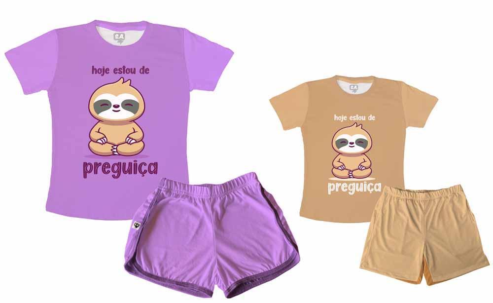 Kit Pijamas Tal Mãe, Tal Filho Dia Das Mães Bicho preguiça