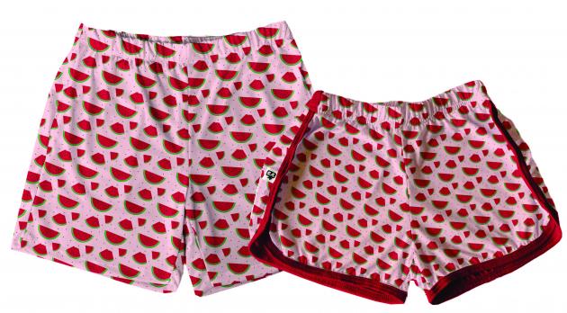 Kit Shorts Tactel Casal De Verão Melancia