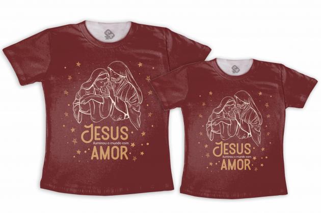Kit Tal Mãe Tal Filho (a)  Jesus Iluminou o Mundo Com Amor
