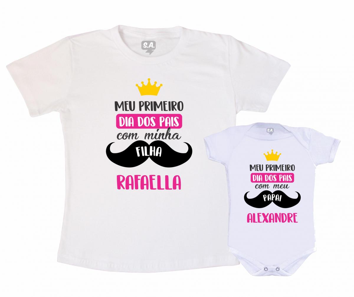 Kit Tal Pai, Tal Filha - Meu Primeiro Dia Dos Pais Com Minha Filha Com Nome
