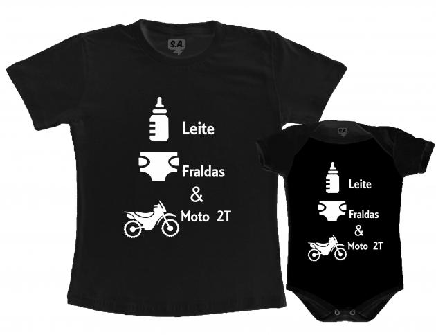 Kit Tal Pai, Tal Filho Kit Leite Fraldas e Moto 2T