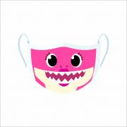 Máscara de Proteção Facial Reutilizável e Lavável Mommy Shark rosa