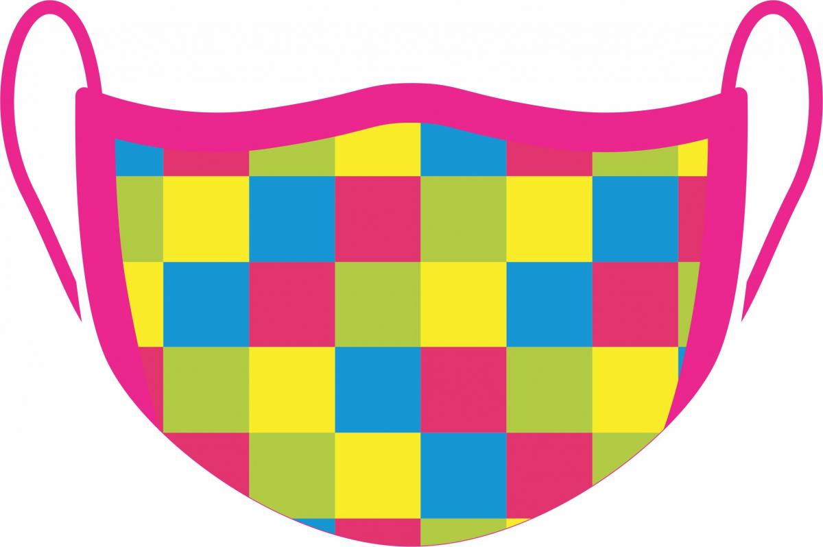 Máscara De Proteção Facial Reutilizável E Lavável  Color