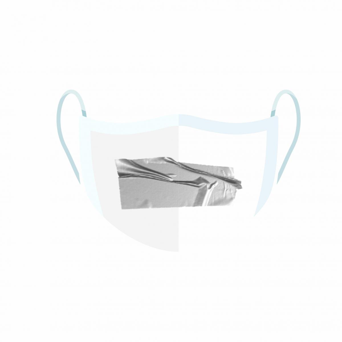 Máscara de Proteção Facial Reutilizável e Lavável SILVER TAPE