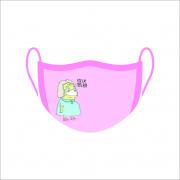Máscara de Proteção Facial Reutilizável e Lavável Fica Em Casa Bem