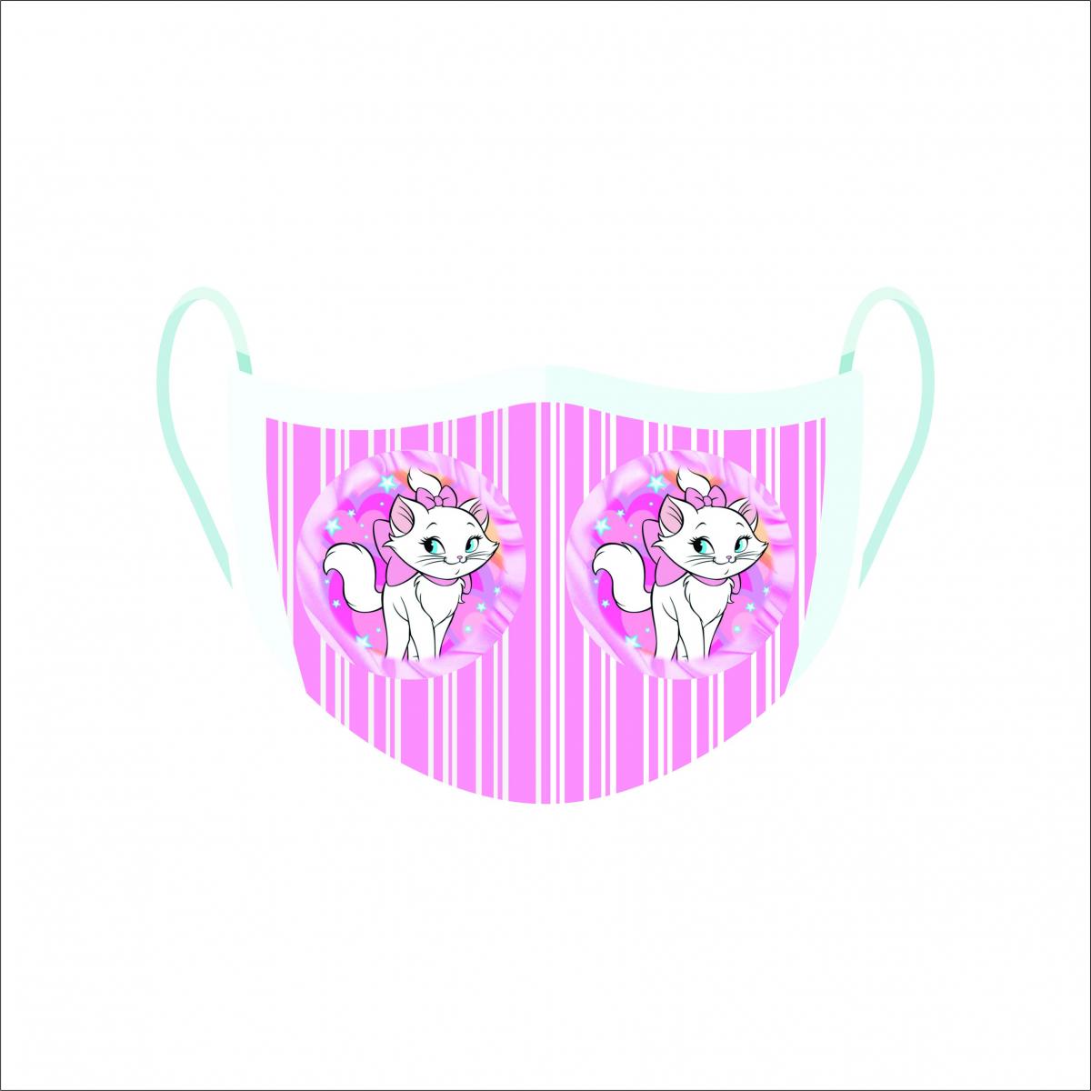 Máscara de Proteção Facial Reutilizável e Lavável Gatinha Marie