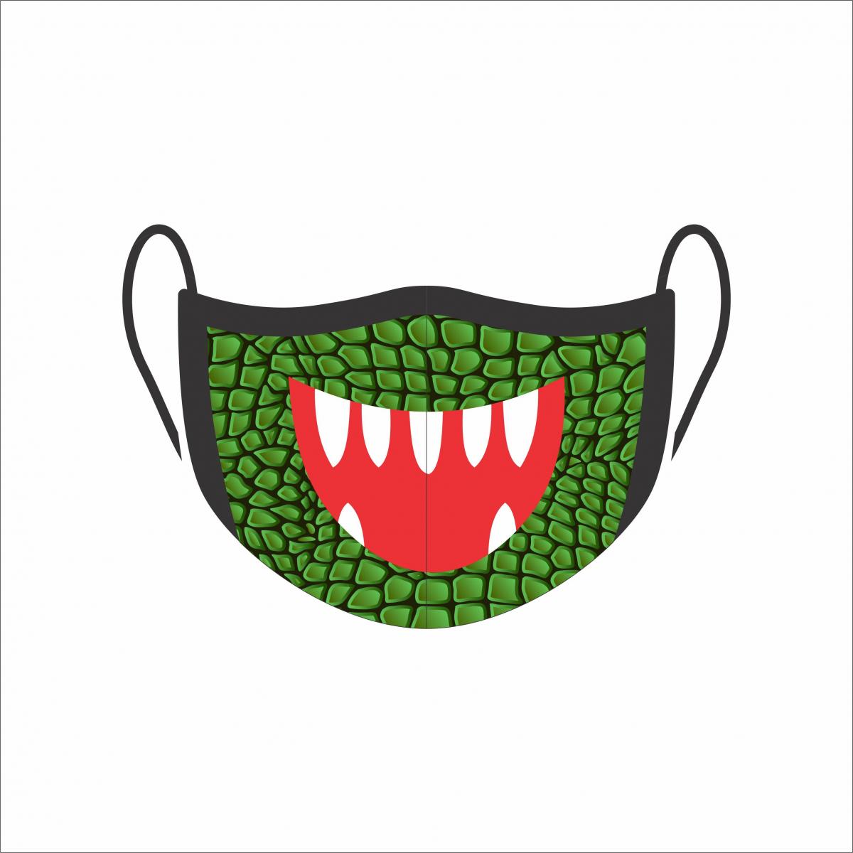 Máscara de Proteção Facial Reutilizável e Lavável Jacaré