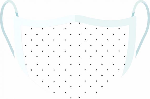 Máscara de Proteção Facial Reutilizável e Lavável Poá Branco e Preto