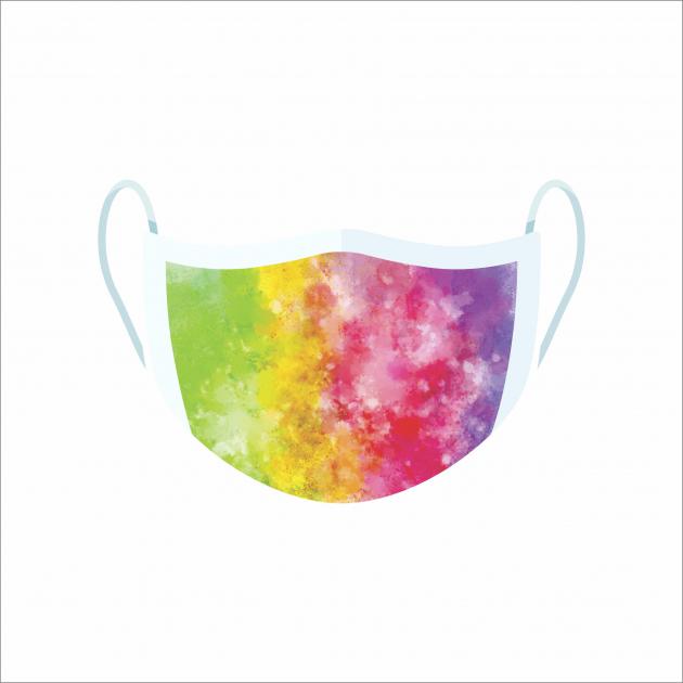 Máscara De Proteção Facial Reutilizável E Lavável Tie Dye