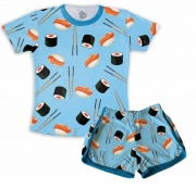 Pijama  feminino Adulto Curto Sushi