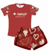 Pijama Feminino  Adulto Curto Temático de Ano Novo 2021 - Metas