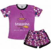Pijama Infantil De Malha de Flamê Bruxinha Da Mamãe