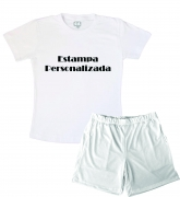Pijama Infantil De Malha  Masculino Personalize