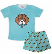 Pijama Infantil De Malha Masculino Beagle