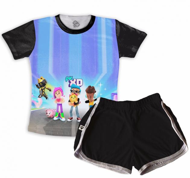Pijama Infantil Malha Flamê PKXD