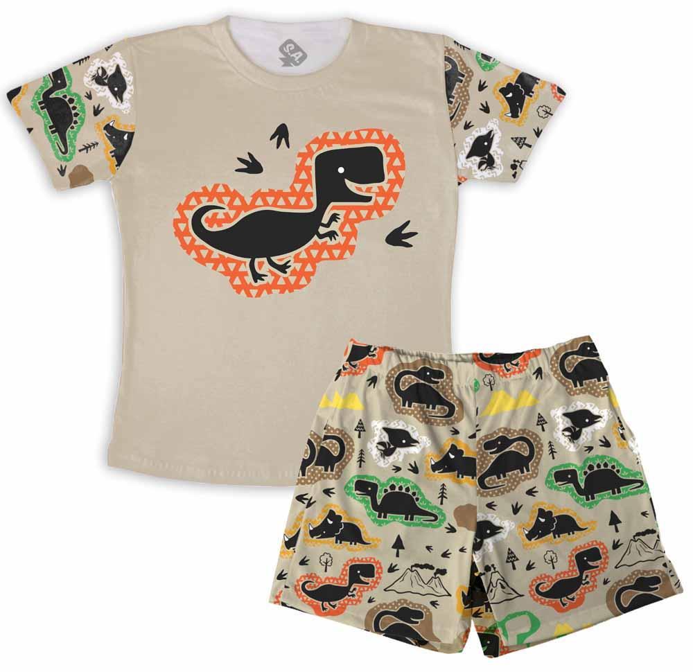 Pijama Masculino Infantil De Malha Dino