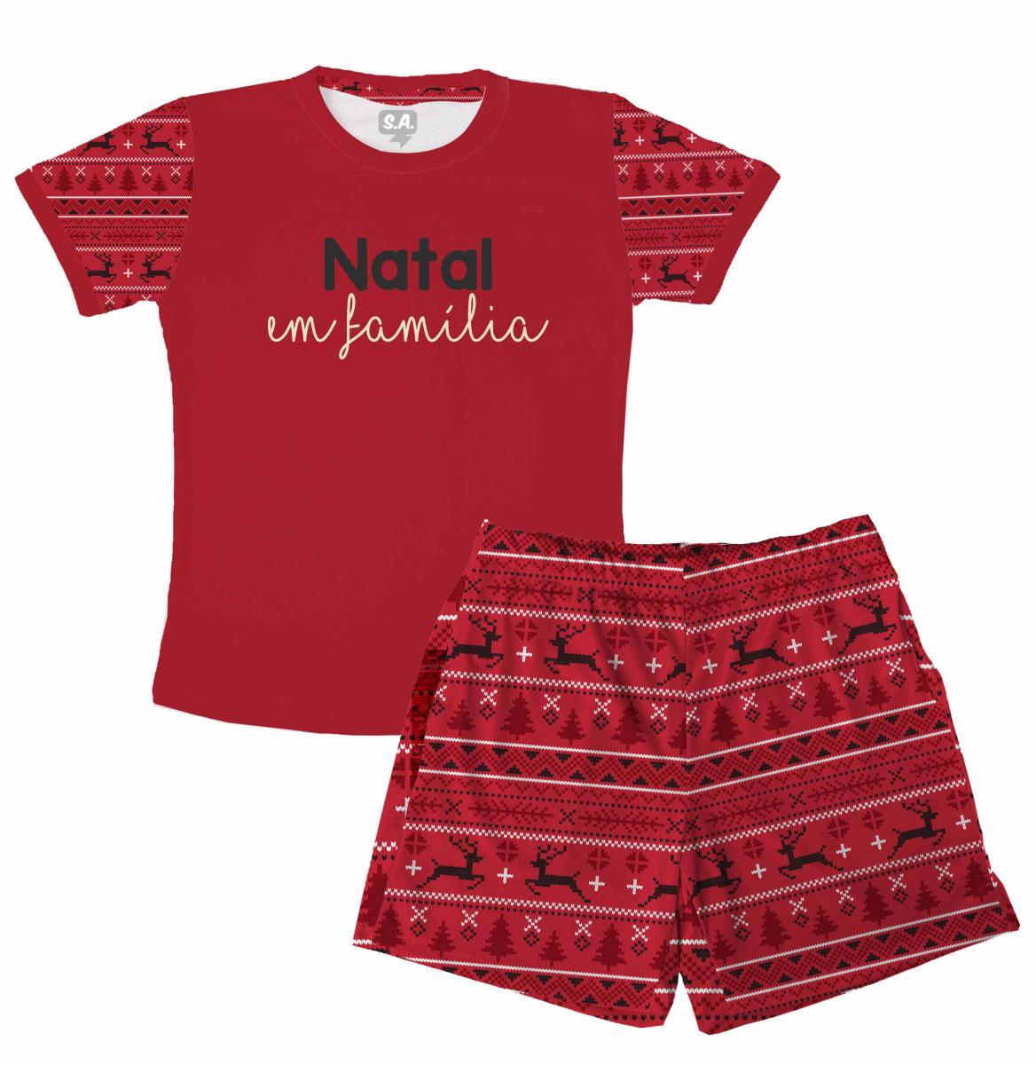 Pijama Masculino Malha Natal em Família
