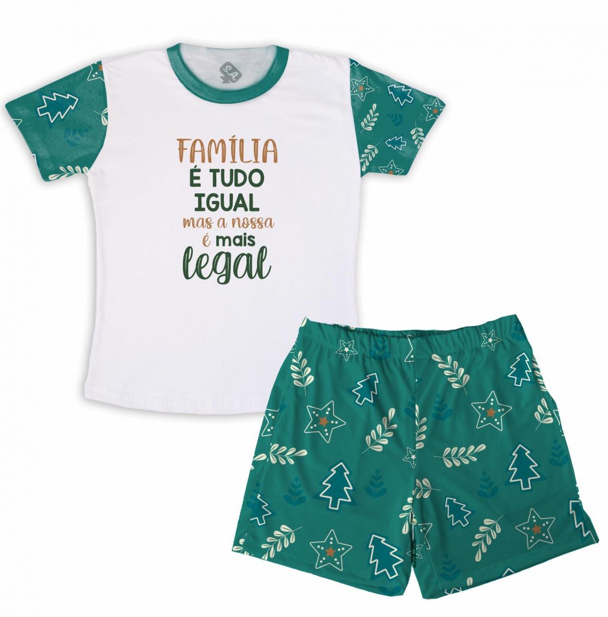 Pijama Masculino Malha Natal - Família é Tudo Igual
