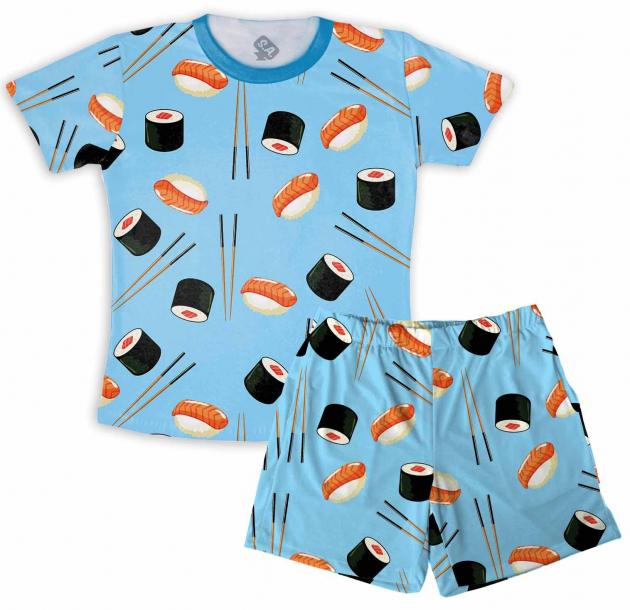 Pijama Masculino Malha Sushi