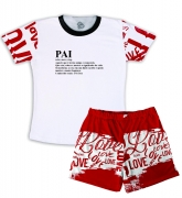 Pijama Masculino Malha Tema Significado Pai
