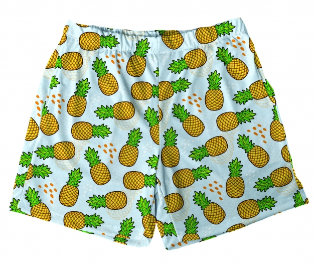 Short Tactel Masculino Infantil Abacaxis