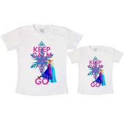 Tal Mãe Tal Filha Camiseta Keep Calm and Let In Go
