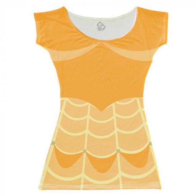 Vestido Adulto Bella Amarelo