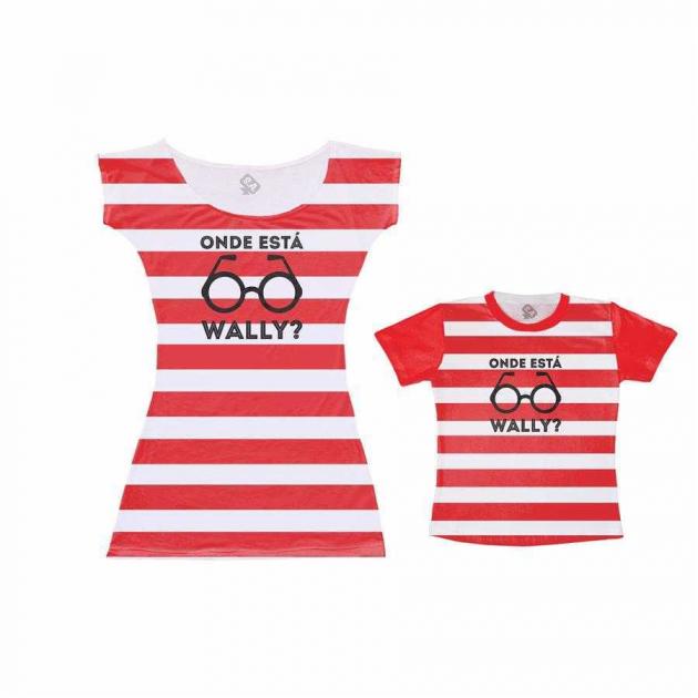 Vestido e Camiseta - Tal Mãe tal Filho Onde está Wally